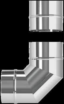 Ukázka konstrukce tlakotěsné  jednovrstvé spalinové cesty EW-KL bez použití těsnění