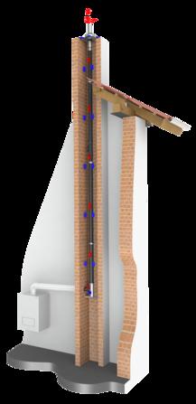 Ukázka konstrukce tlakotěsné jednovrstvé spalinové cesty EW-PPS z polypropylenu