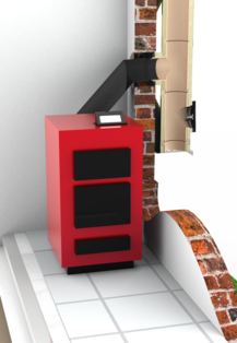Doppelwandiger Edelstahlschornstein mit säurebeständigem keramischem Innenrohr