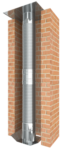 Vzorek konstrukce flexibilní tlakotěsné jednostěnné spalinové cesty EW-LINE FLEX AL