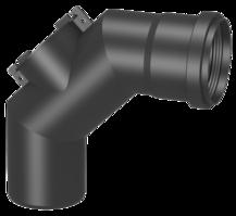 Systémový prvek tlakotěsné jednovrstvé spalinové cesty EW-PPS z polypropylenu