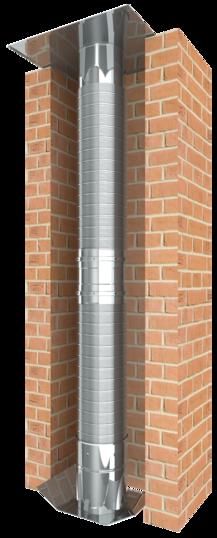 Vzorek konstrukce flexibilní jednostěnné spalinové cesty EW-LINE FLEX FU
